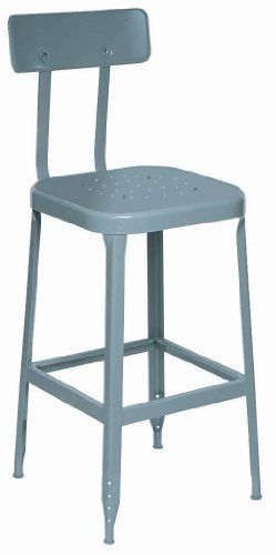 Lyon Dd1904 All Welded Steel Seat Stool With Back And