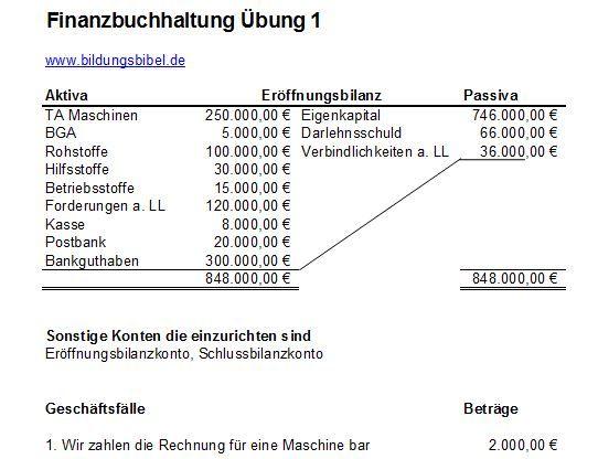Buchfuhrung Buchfuhrung Ubungen Aufgaben Kostenlos Downloaden