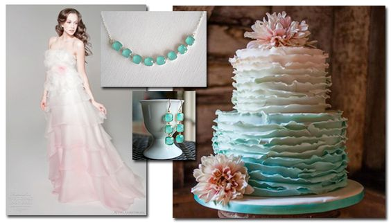 mint green ombre wedding cake ombre ombre wedding dress and mint on 17448