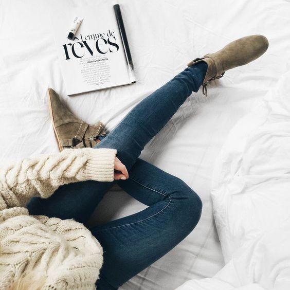 Isabel Marant aran knit, Isabel Marant ralf boots & Jbrand jeans. Via Mija // Shop the outfit www.liketk.it/IEzA