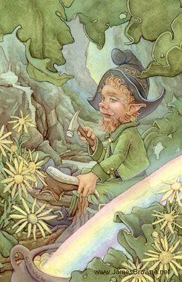 Of course, we all know about leprechauns, the mythical creatures that seem to be found only in Irish folklore. They are described as male fae that appear as tiny, wizened old men. They often ply the trade of shoemaker.