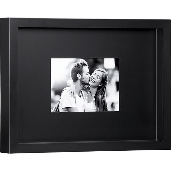 black matte 5x7 picture frame in frames cb2