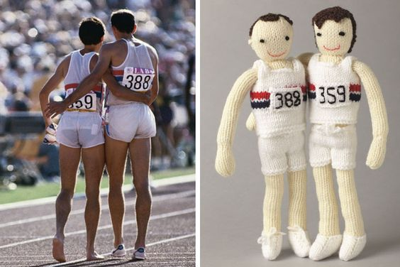 Knitted Olympic stars - in pictures   Olympics and Cheer