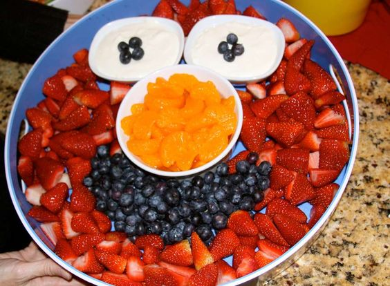 Sesame Street Elmo Birthday Party Ideas Fruit bowls Bowls and