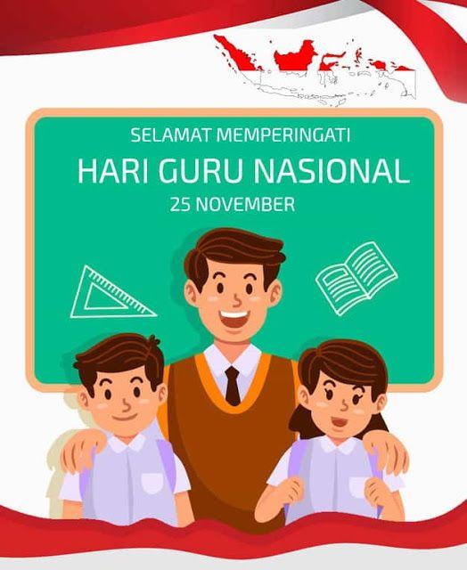 Poster Hari Guru Nasional : poster, nasional, Gambar, Ucapan, Selamat, 2020