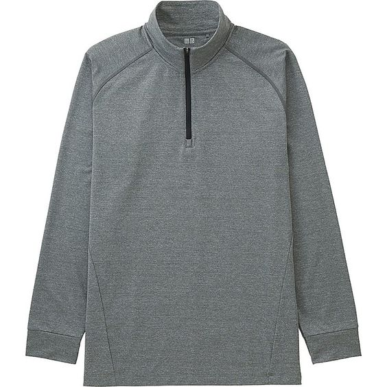 MEN WARM DRY HALF-ZIP T-SHIRT