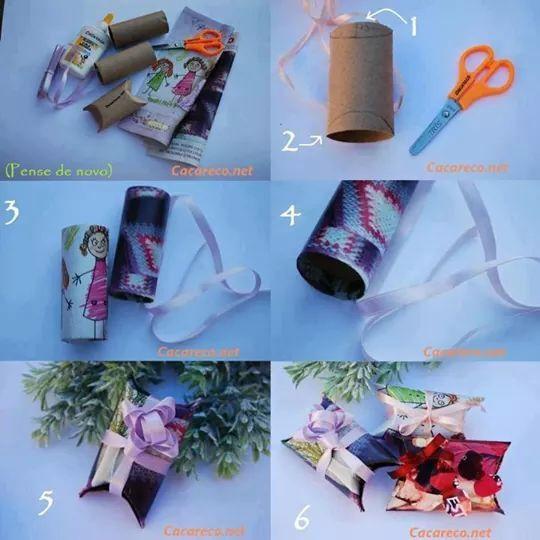 Idea genial para usar tubos de papel higiénico