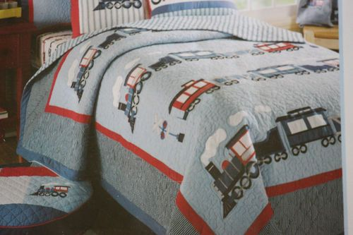 Full Size Train Bedding On Ebay Only One Sham Available