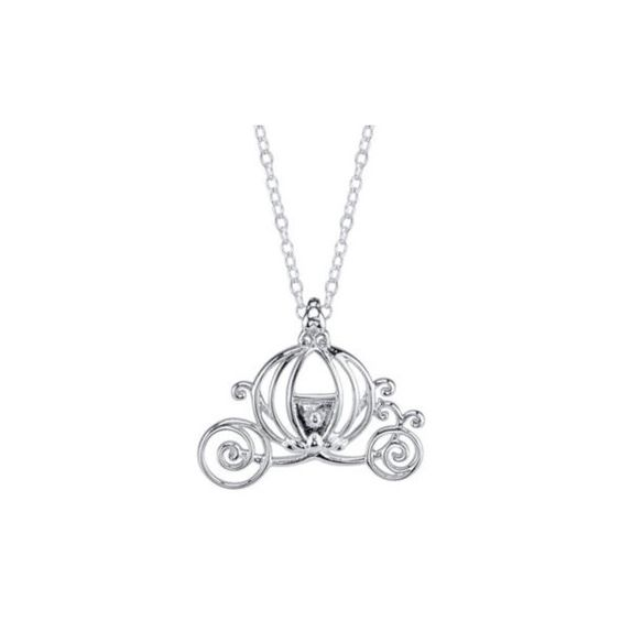 Disney Cinderella Carriage Sterling Silver Pendant Necklace ($62) ❤ liked on Polyvore featuring jewelry, necklaces, ball pendant necklace, long chain necklace, disney, pumpkin necklace and long necklace