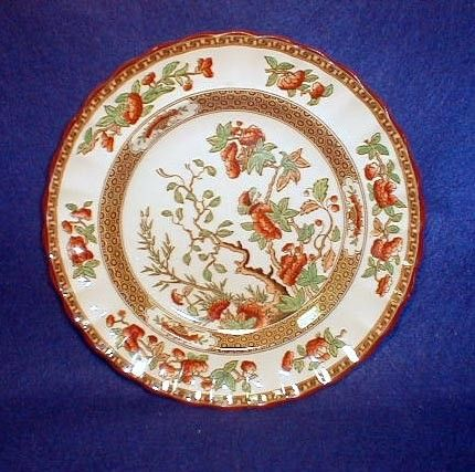Vintage Spode INDIA TREE Pattern 10 Inch China Dinner Plate England Stopp