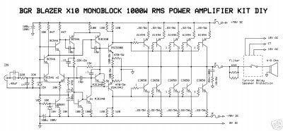 Blazer 1000 Watt Power Amplifier Circuit Diagram 1000watts Amplifier Circuit Digram 2000w Class Ab Power Amplifier Power Amplifiers Amplifier Audio Amplifier