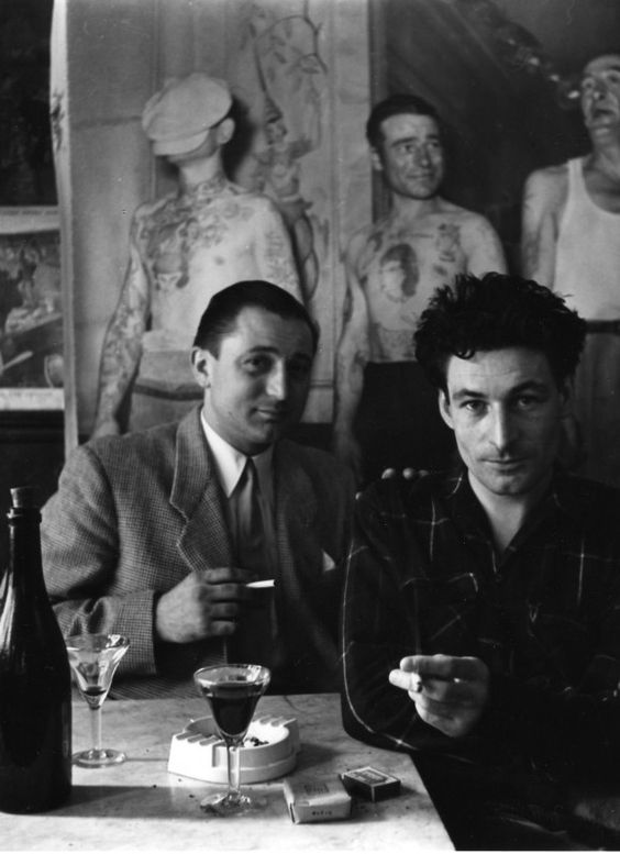 """""""Life is short. Break the rules. Forgive quickly. Kiss slowly. Love truly. Laugh uncontrollably and never regret anything that made you smile!"""" ― Robert Doisneau • Happy 100th birthday, sir. • Right, in photo."""