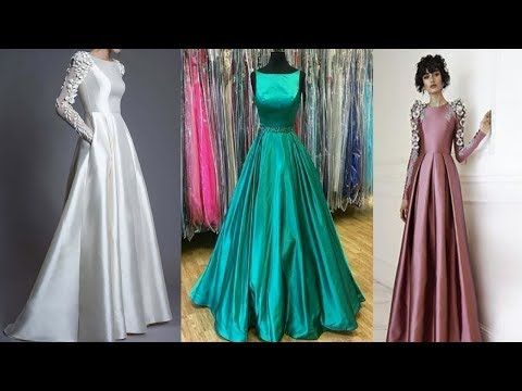 Beautiful Party Wear Silk Dress Design Ideas Silk Fabric Party Gown Design Silk Dress Design Designer Dresses Party Gowns