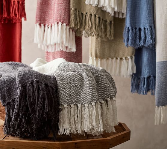 Awning Stripe Throw Blanket Pottery Barn Striped Throw Striped Throw Blanket Home Decor Sale