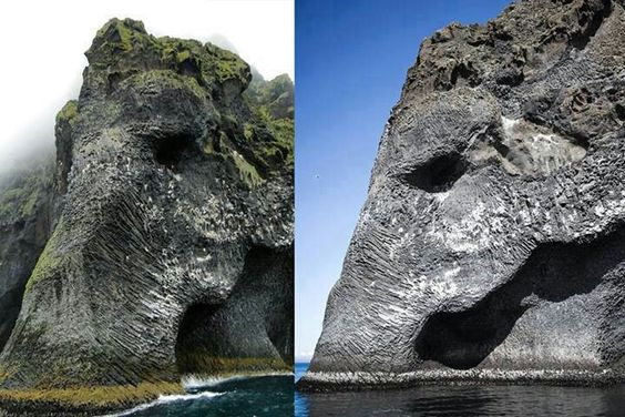 Pedra do elefante, Islândia.