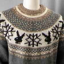 Playboy Skiing Tour Wool Sweater XXL Bunny Ecko Rhino Hugh Hefner Snowflake
