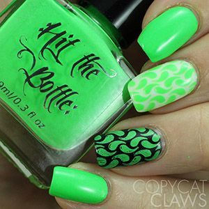 "Hit the Bottle ""Ectoplasm"" Neon Stamping Polish"