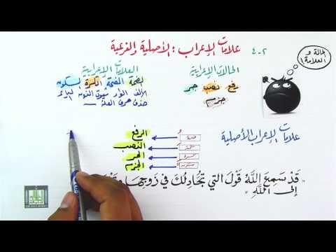 علامات الإعراب الأصلية وعلامات الإعراب الفرعية 2 4 Youtube Word Search Puzzle Words Bullet Journal