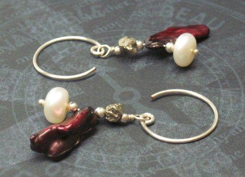 'Valentine's On The Equator I' Buccaneer Inspired Handmade Earrings | JewelryByLis - Jewelry on ArtFire