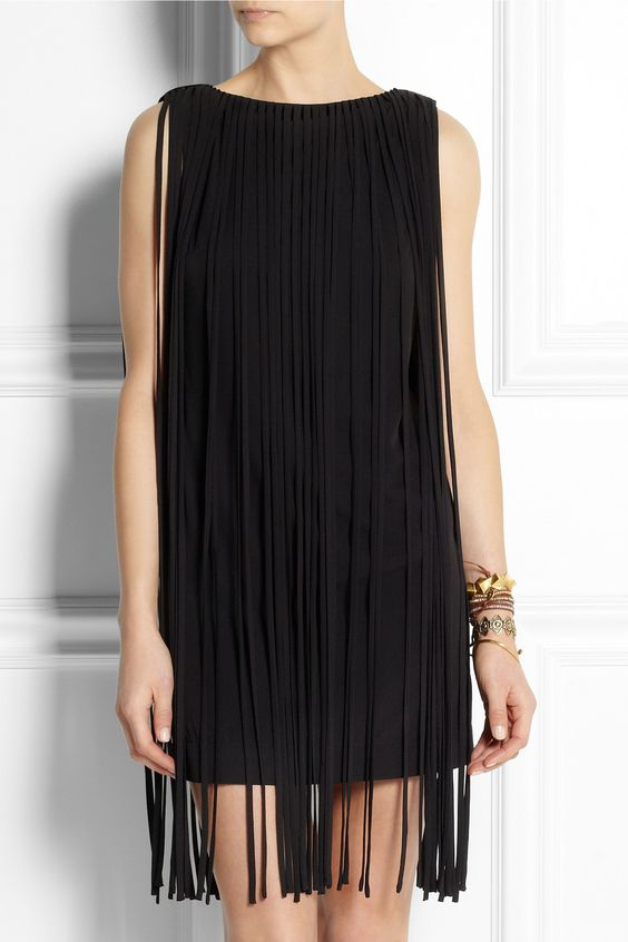 Kate Moss for Topshop | Fringed jersey mini dress | NET-A-PORTER.COM