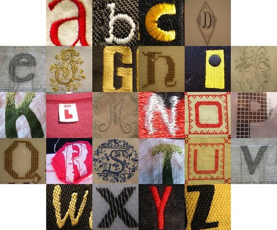 textile letters by Tom Magliery
