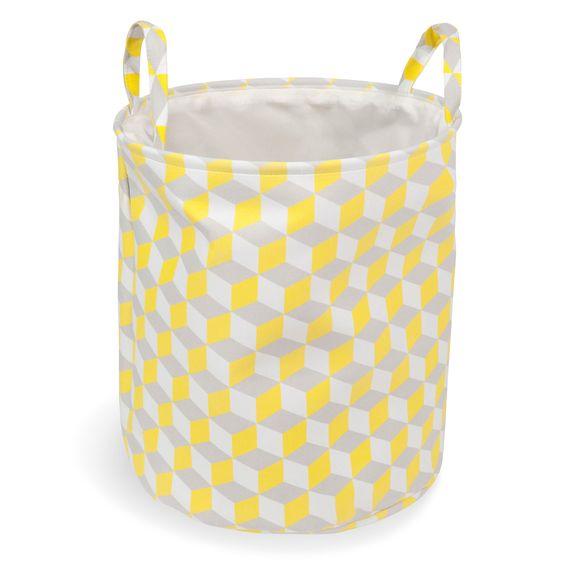 Wäschekorb aus Stoff, gelb, YELLOW