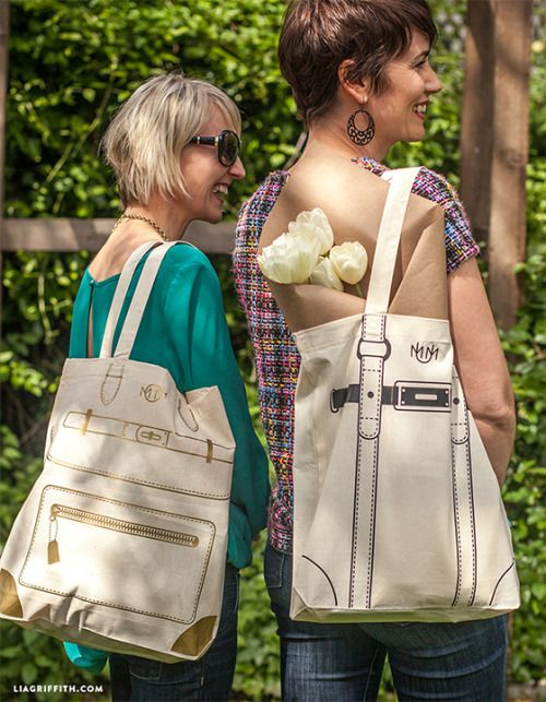 Mother�s Day Designer Tote Bags via Lia Griffith