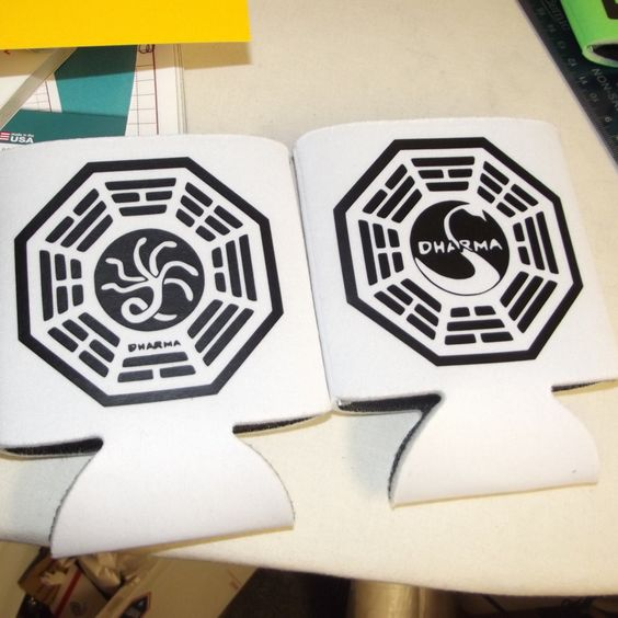 "Can koozie set ""Lost"" dharma initiative by amberkdesigns on Etsy"