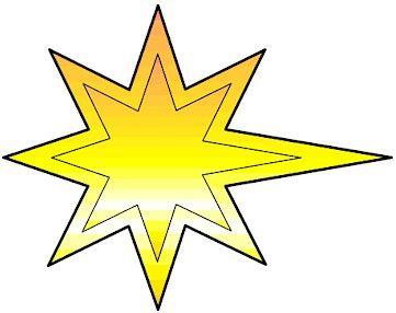 Estrela de Papel para imprimir Presepio de Natal - Brinquedos de Papel