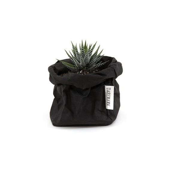 UASHMAMA PAPERBAG SMALL BLACK NEU (27 BAM) ❤ liked on Polyvore featuring bags, handbags, fillers, plants, decor and fillers - black