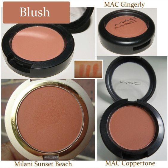 Milani Sunset Brach - MAC Coppertone  Blush #dupes