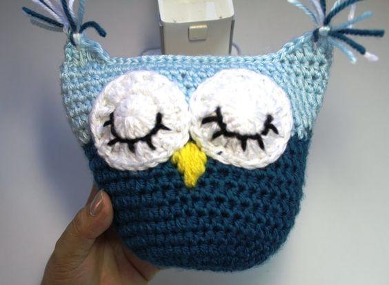 How to Crochet owl pillow  - subtitulos en Espanol