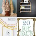 20 creative thrifty and easy wayt so use rope in your crafts and home projects - cute ideas!