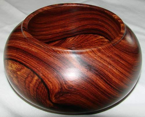 Bowl turned from south american cocobolo hardwood this is for Most beautiful wood