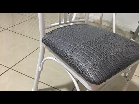 Como tapizar silla con vinil o cuero .Transformando mi juego