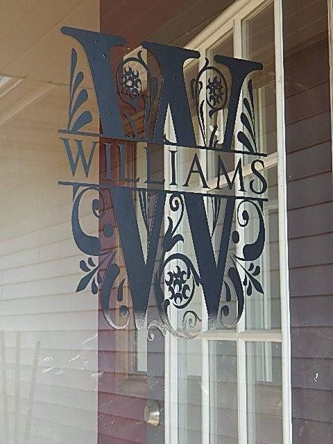 Personalized Split Letter Last Name Wall Vinyl Decal On Etsy - Vinyl stickers for glass doors