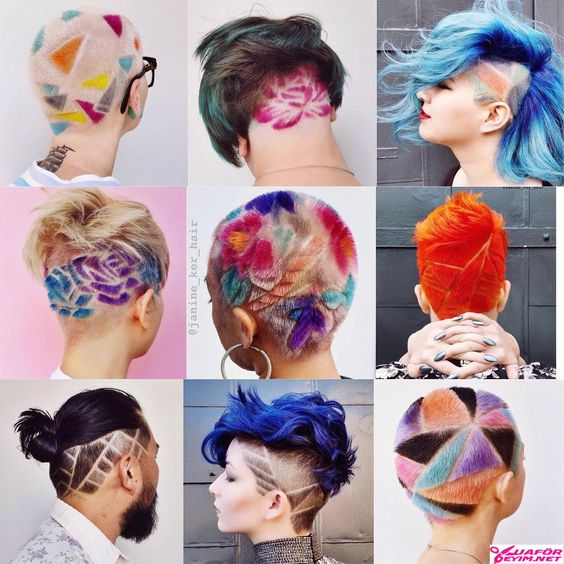 Yeni Trend Renkli Saç Dövmesi Nedir? Nasıl Yapılır?