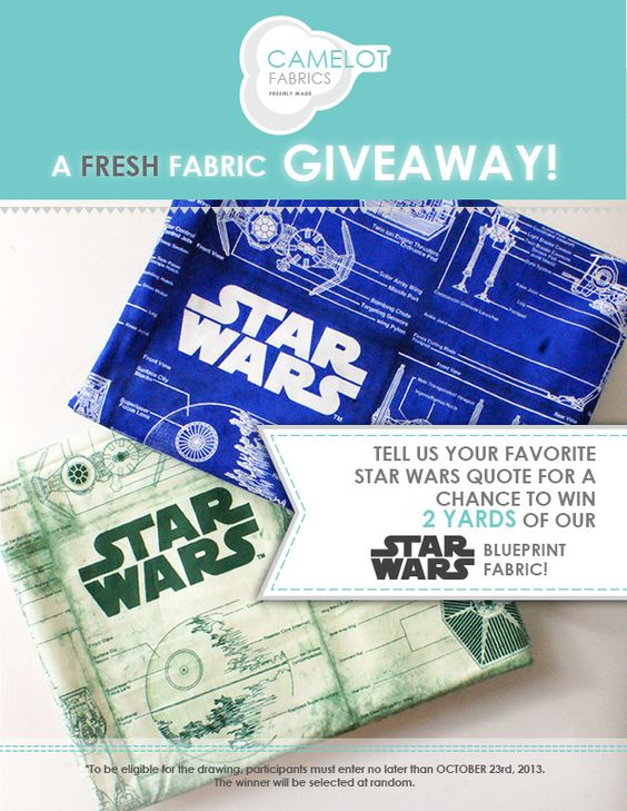 Enter to win a Star Wars blueprint fabric bundle by telling us your - fresh blueprint paper color