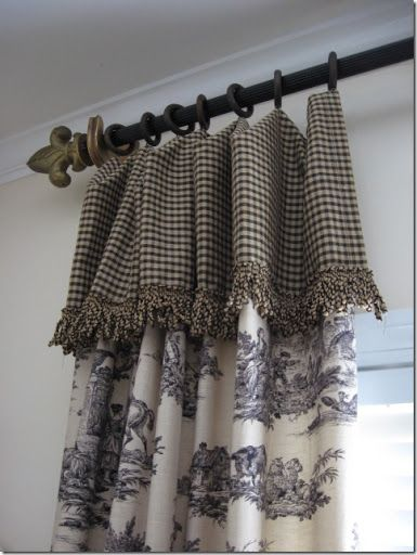 Toile French Country And Toile Curtains On Pinterest