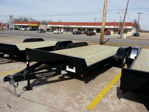 2014 NEW 18' Car Hauler, Flatbed Trailer in Tulsa Area #HitchIt #BrokenArrow #Tulsa #Oklahoma #Trailersales #918Trailers #TulsaTrailerSales