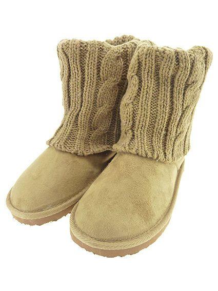 Damenstiefel Boots Strick Stiefel Strickstiefel (WST44) in Kleidung & Accessoires, Damenschuhe, Stiefel & Stiefeletten | eBay