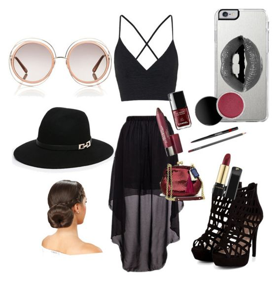 """""""Cochlea look"""" by aubreybumpus ❤ liked on Polyvore featuring Topshop, Chloé, Lipsy and Bebe"""