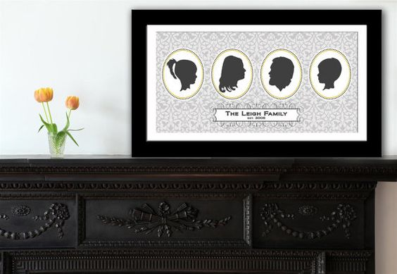 Personalized Family Silhouettes.