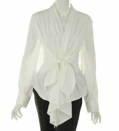 Farinaz Wrap Around Long Sleeve Blouse | the perfect white shirt ...
