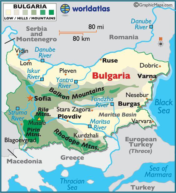 Map Of Romania And Bulgaria