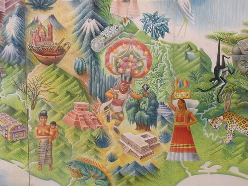 Miguel covarrubias 39 mural map of mexico museo de arte for Arte mural en mexico