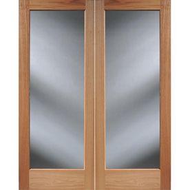Master bedroom closet door reliabilt 60 x 80 full lite for Solid wood french doors