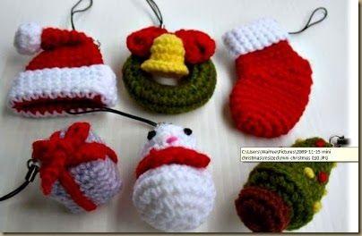 Free Crochet Patterns For Mini Christmas Ornaments : CHRISTMAS CROCHET MINIATURE FREE PATTERN Free patterns ...