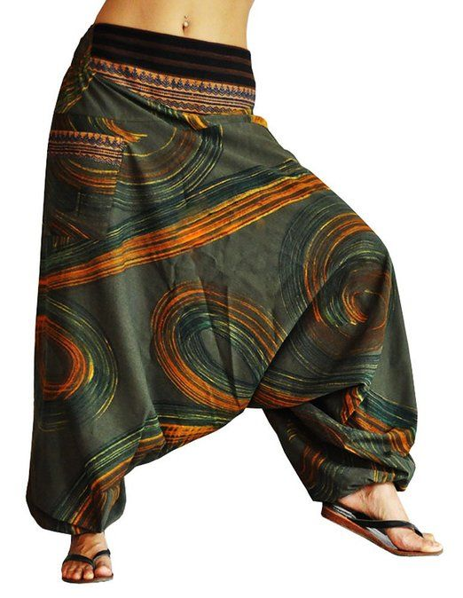 BONZAAI Haremshose Sommerhose Harem Pant Aladinhose Pumphose Pluderhose GOA Hose yoga - alternative Bekleidung - Luftschloss