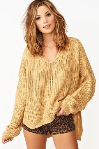 Camel sweater+Leopard shorts